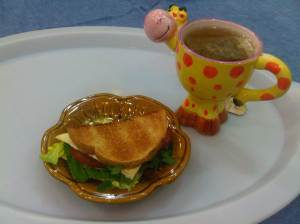ريوقي يوم الاربعا توست وجبن وخضره مع شاي اعشاب