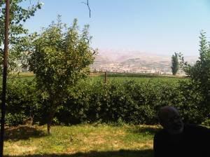 منظر الجبل من حديقه بيت يدتي